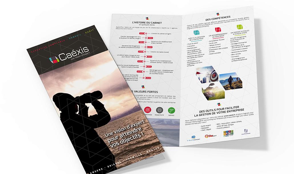 Création Charte graphique – Studio de création graphique Vert Anis Design Graphique à Nantes – Caéxis