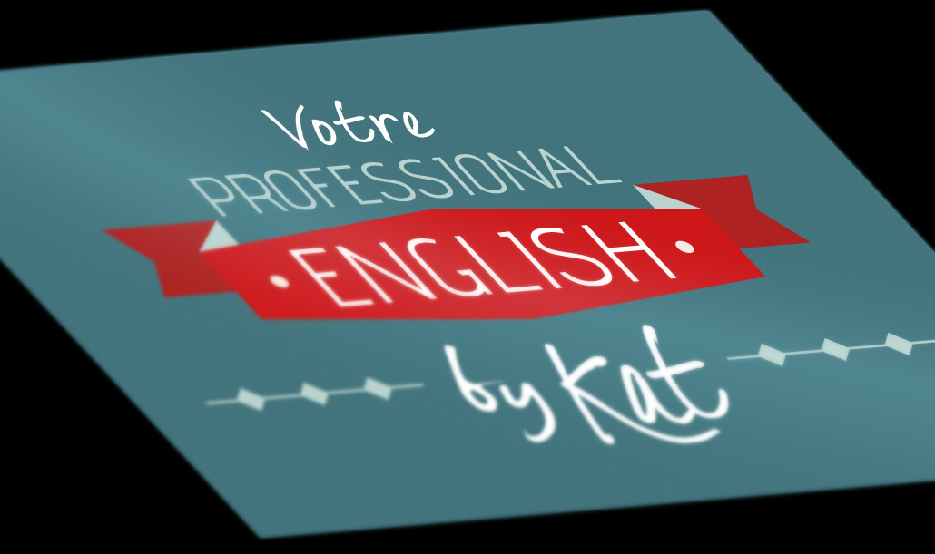 Création de logo Votre professional English by kat - Studio graphique Vert Anis à Nantes