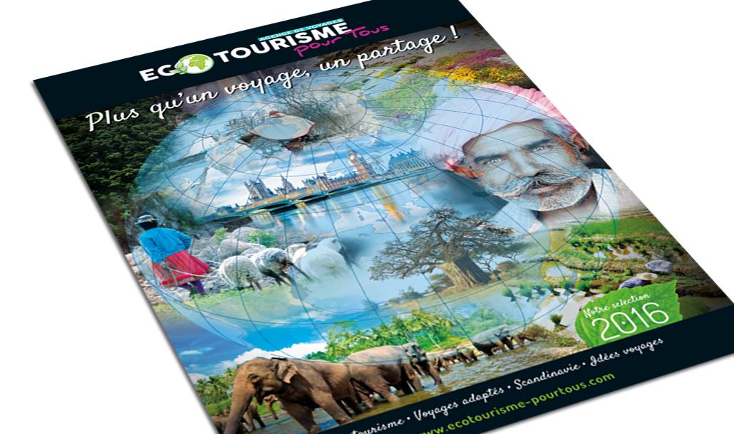 Brochure agence de voyage_Ecotourisme pour Tous_création graphique studio Vert Anis à Nantes