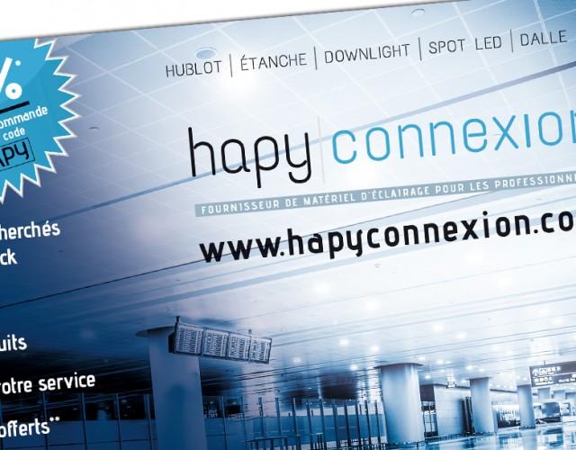 Flyer promotionnel_Hapyconnexion_création graphique studio Vert Anis à Nantes