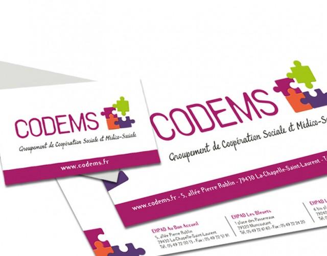Création graphique tous documents de papeterie - CODEMS - Studio de création graphique Vert Anis Design Graphique à Nantes