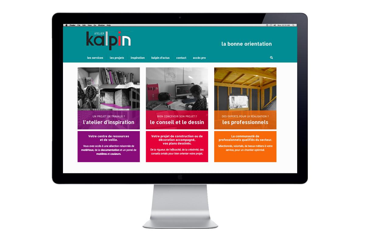 Webdesign et création graphique - Studio Vert Anis à Nantes - Atelier Kalpin