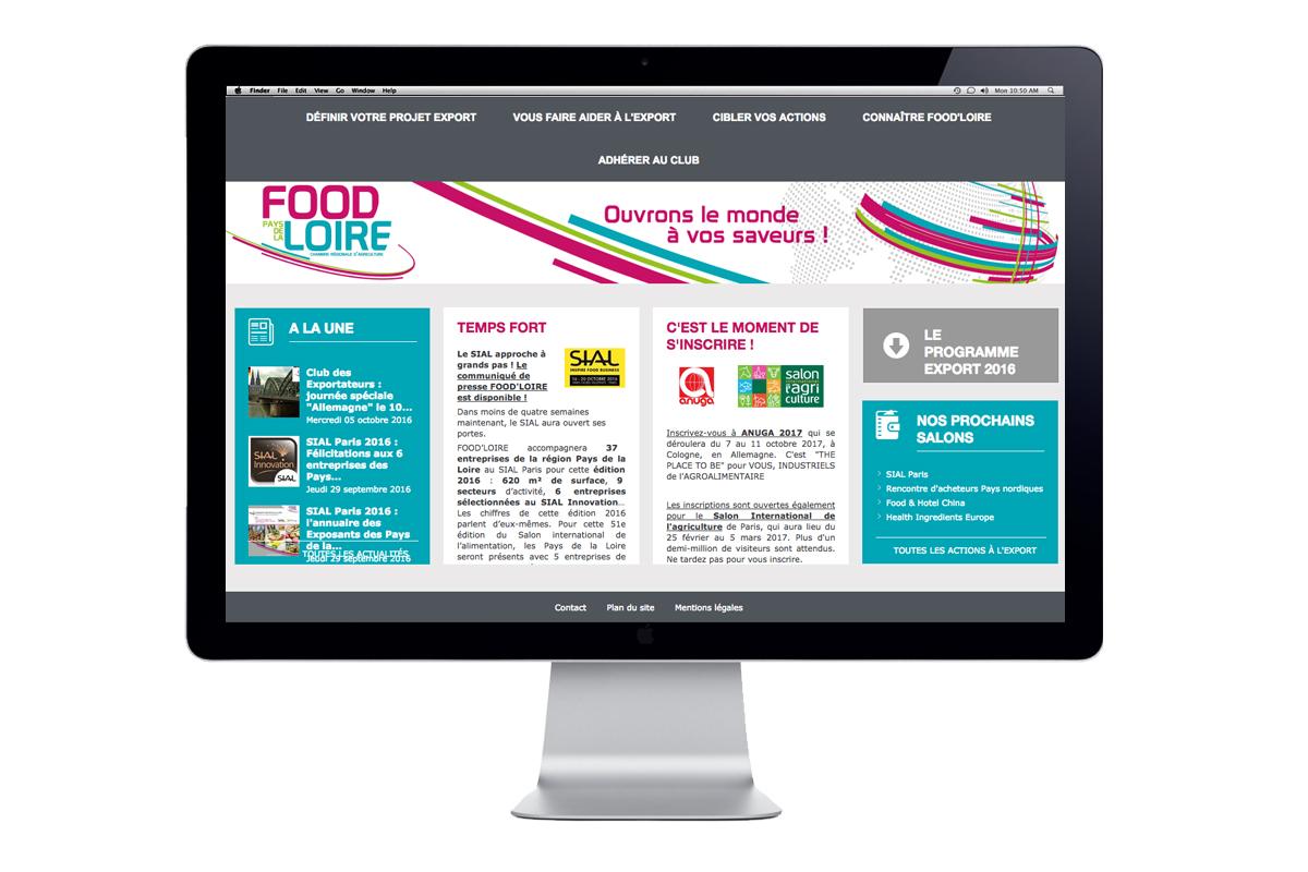 Webdesign et création graphique - Studio Vert Anis à Nantes FOOD'LOIRE
