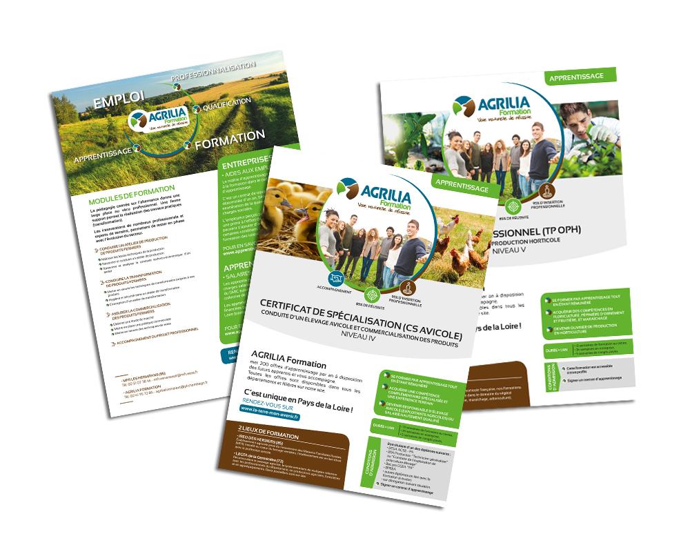 Studio vert anis cr ation graphique de logo plaquette site internet nantes 44 - Chambre d agriculture 44 ...